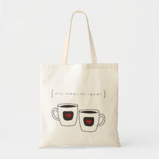 tiempo del café de los momentos reservados bolsa tela barata