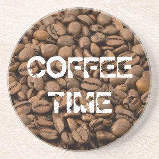 Tiempo del café posavasos para bebidas