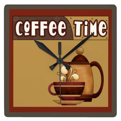 Tiempo del café reloj de pared
