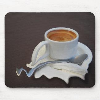tiempo del café tapete de ratón