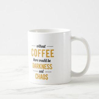 Tiempo del café taza básica blanca