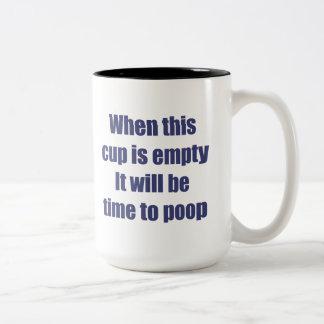 Tiempo del café taza de dos tonos