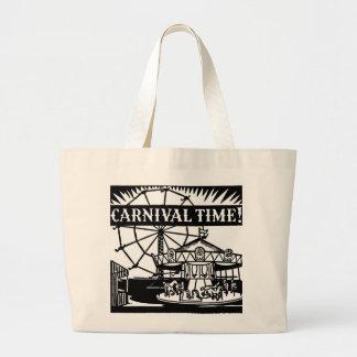 Tiempo del carnaval bolsa tela grande