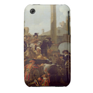 Tiempo del carnaval en Roma 1653 aceite en lona iPhone 3 Case-Mate Carcasa