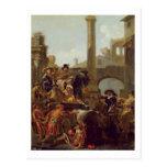 Tiempo del carnaval en Roma, 1653 (aceite en lona) Tarjeta Postal
