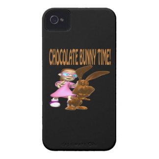 Tiempo del conejito del chocolate Case-Mate iPhone 4 cobertura