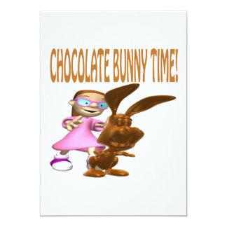 """Tiempo del conejito del chocolate invitación 5"""" x 7"""""""
