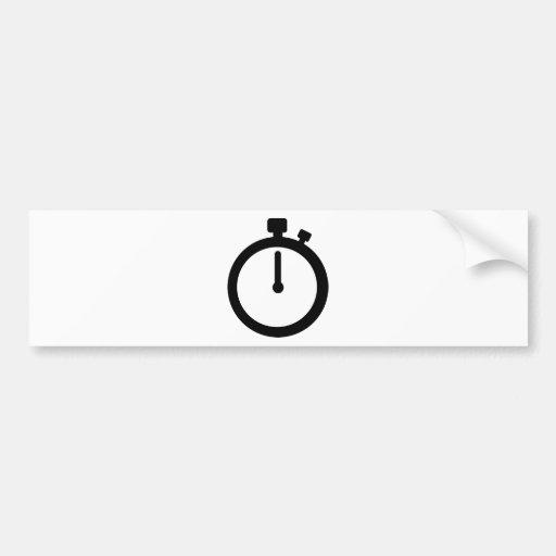 Tiempo del cronómetro pegatina para auto