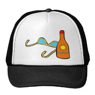 Tiempo del día de fiesta gorras