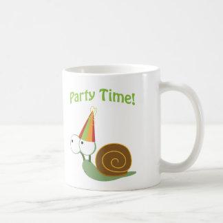 ¡Tiempo del fiesta! Caracol Taza De Café