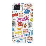 Tiempo del fiesta Case-Mate iPhone 4 fundas