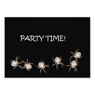 Tiempo del fiesta de la araña. Invitación