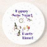 ¡Tiempo del fiesta de la Feliz Año Nuevo! Posavaso Para Bebida