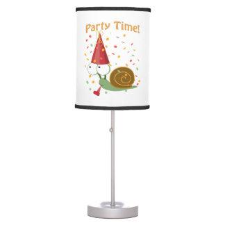 ¡Tiempo del fiesta del confeti! Caracol Lámpara De Escritorio