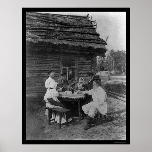 Tiempo del fiesta en Rusia 1901 Póster