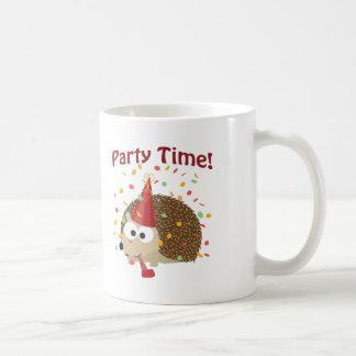 ¡Tiempo del fiesta! Erizo del confeti Tazas De Café