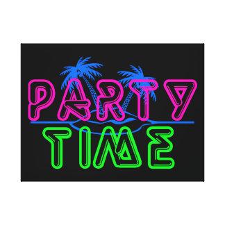 Tiempo del fiesta lona envuelta para galerias