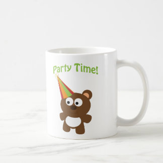 ¡Tiempo del fiesta! Oso Tazas De Café