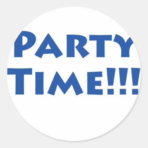 ¡Tiempo del fiesta! Pegatina Redonda