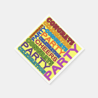 ¡tiempo del fiesta! servilletas desechables