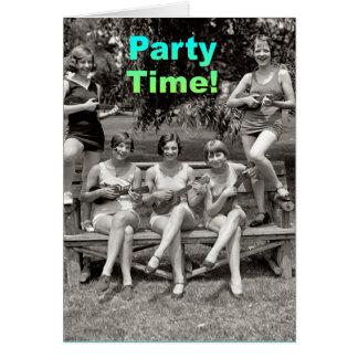 ¡Tiempo del fiesta! Tarjeta De Felicitación