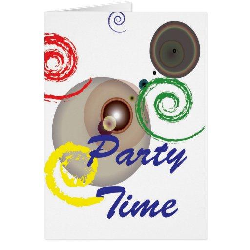 Tiempo del fiesta tarjetón