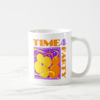 Tiempo del fiesta taza de café