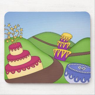 ¡Tiempo del fiesta - tortas caprichosas! Alfombrillas De Ratón