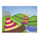 ¡Tiempo del fiesta - tortas caprichosas! Postales