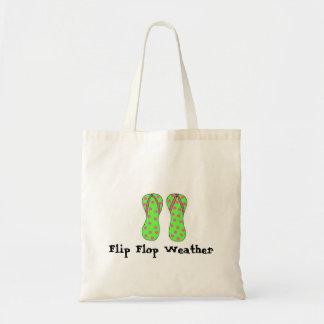 Tiempo del flip-flop bolsa lienzo