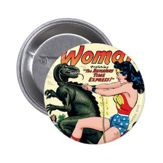 Tiempo del fugitivo de la Mujer Maravilla expreso Pin Redondo De 2 Pulgadas