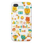 tiempo del fútbol iPhone 4 cárcasa