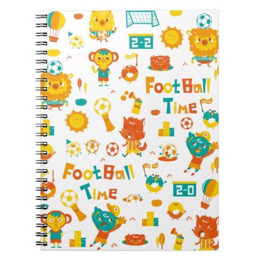 ¡tiempo del fútbol! libro de apuntes con espiral