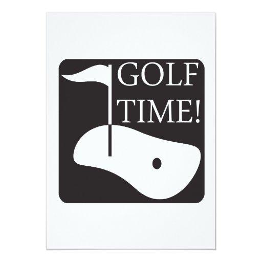 """Tiempo del golf invitación 5"""" x 7"""""""