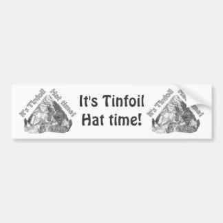 Tiempo del gorra del papel de estaño pegatina para auto