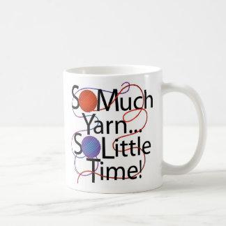 Tiempo del hilado taza de café