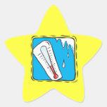 Tiempo del invierno calcomania forma de estrella personalizadas