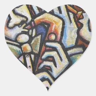 Tiempo del jazz pegatina en forma de corazón
