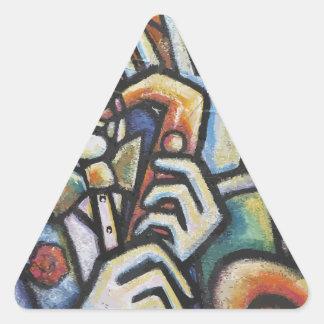 Tiempo del jazz pegatina triangular