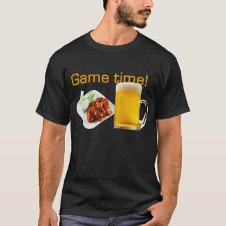 ¡Tiempo del juego! ¡Camiseta de las alas y de la Playera