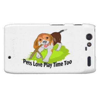 Tiempo del juego del amor de los mascotas también droid RAZR funda
