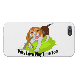 Tiempo del juego del amor de los mascotas también iPhone 5 protectores
