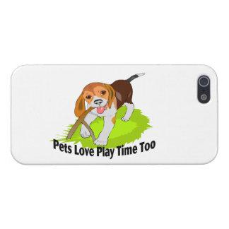Tiempo del juego del amor de los mascotas también iPhone 5 cárcasa