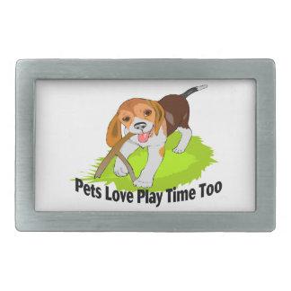 Tiempo del juego del amor de los mascotas también hebilla de cinturon rectangular