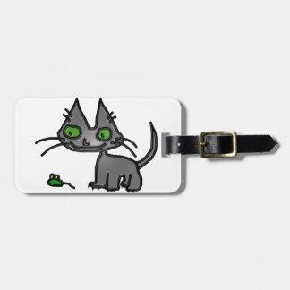Tiempo del juego del gato del gatito etiquetas de equipaje