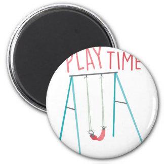 Tiempo del juego imán redondo 5 cm