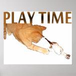 Tiempo del juego - impresión poster