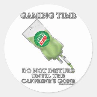 Tiempo del juego - soda IV Etiquetas Redondas