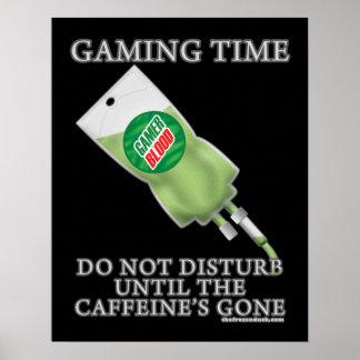 Tiempo del juego - soda IV Póster