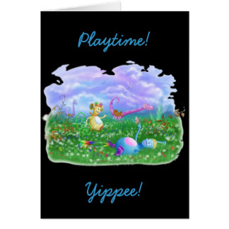 ¡Tiempo del juego! Tarjeta De Felicitación
